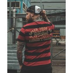 King Kerosin Tshirt Speed Shop Red & Black
