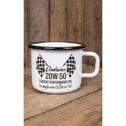 Rumble59 Enamel Mug 20W-50 Hot Rod