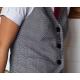 Unique Vintage 1930 Grey Check Keaton Vest