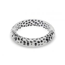 White Leopard Bangle