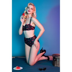 Collectif Playful Promises Cherry Waist Brief