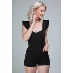Collectif Lisa Playsuit Black