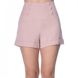 Banned Retro Cute As A Button Shorts Powder