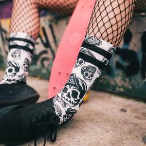American Socks Skater Skull Mid High Unisex