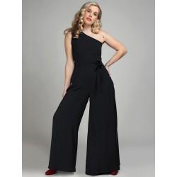 Collectif Vintage Cindal Jumpsuit Black