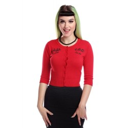 Collectif Be Bop Cardigan Red