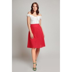 Collectif Vintage Ornella Red Skirt