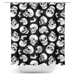 Sourpuss Skulls Shower Curtain