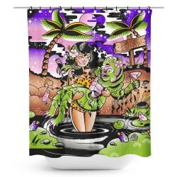 Sourpuss Dark Swamp Shower Curtain
