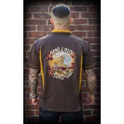 Rumble59 Bowling Shirt Hang Loose, Surf's up