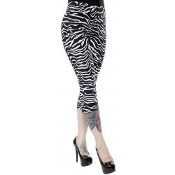 Sourpuss Zebra Sugar Pie Capris White & Black