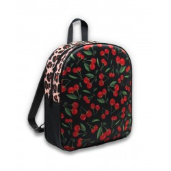 Six Bunnies Backpack Cherries Leopard