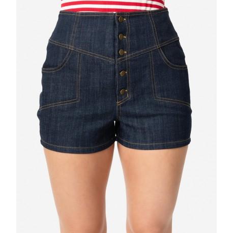 Unique Vintage Denim High Waist Suzy Shorts