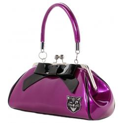Sourpuss Kitty Purse Purple