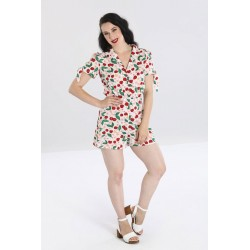 Hell Bunny Simona Playsuit Cherries