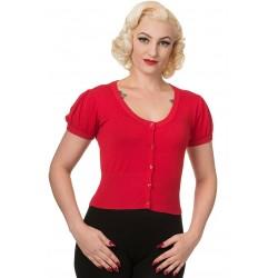 Dancing Days Short Cardigan Red