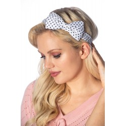 Banned Retro Dionne Bow Headband Polka