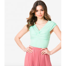 Voodoo Vixen Minty Knotted Top