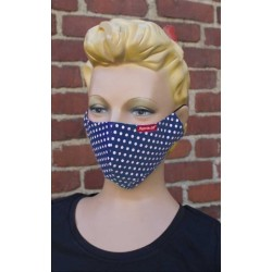Rumble59 Cloth Face Coverings Polka Dots