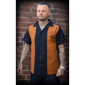 Rumble59 Lounge Shirt Four Aces Rust & Black