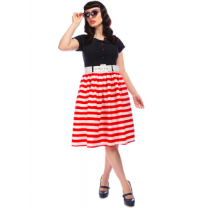 Collectif Constance Nautical Swing Dress