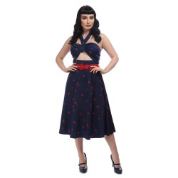 Collectif Marty Nautical Swing Dress