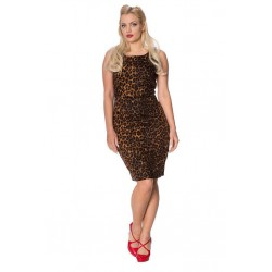 Banned Retro Leopard Pencil Dress