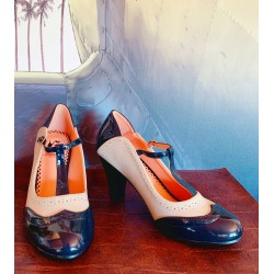 Banned Retro Diva Blues Navy Heels