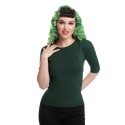 Collectif Chrissie Jumper Green