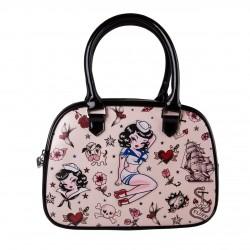 Miss Fluff Suzy Sailor Bowler Handbag