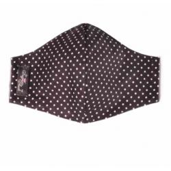 Polka Black Cloth Face Coverings