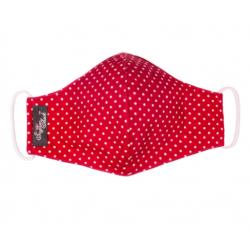 Polka Burgundy Cloth Face Coverings