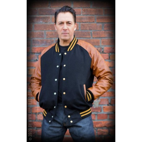 Rumble59 Baseball Jacket Brown 1955