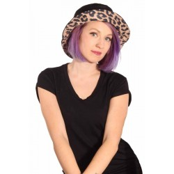 Black & Leopard Hat 2 in 1