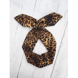 Dark Leo Bow Wire Headband Rockabilly