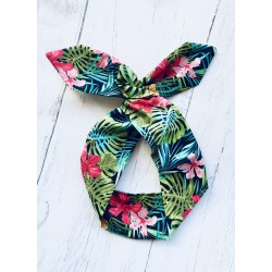 Tropical Bow Wire Headband Rockabilly