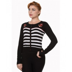 Banned Retro Striped Anchor Cardigan