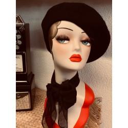 Banned Vintage Claire Beret Black