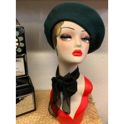 Banned Vintage Claire Beret Green