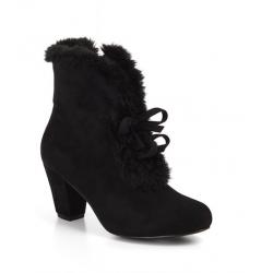 Lulu Hun Tina Faux Fur Boots Black