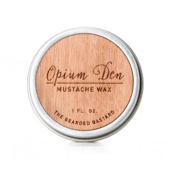 The Bearded Bastard Opium Den Mustache Wax