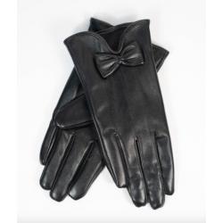 Unique Vintage Black Bow Wrist Gloves