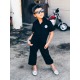 Girl's Black Grease Monkey Coverall
