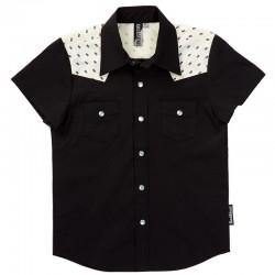 Black Skulls Rockabilly Shirt