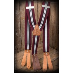 Rumble59 Suspenders Burgundy