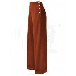 The House of Foxy 1940s Swing Trousers Rust