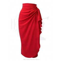 The House of Foxy 40s Waterfall Skirt Red