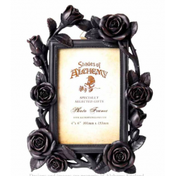 Roses Photo Frame Black