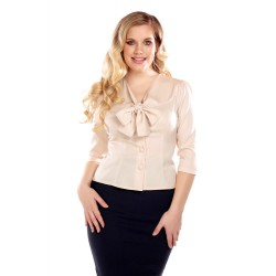 Collectif Vintage Andra Blouse Cream