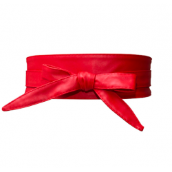 Collectif Wrap Belt Red